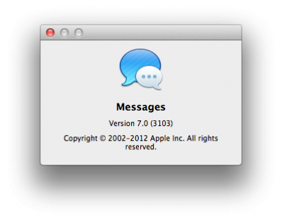 About Messages on Mac OS X