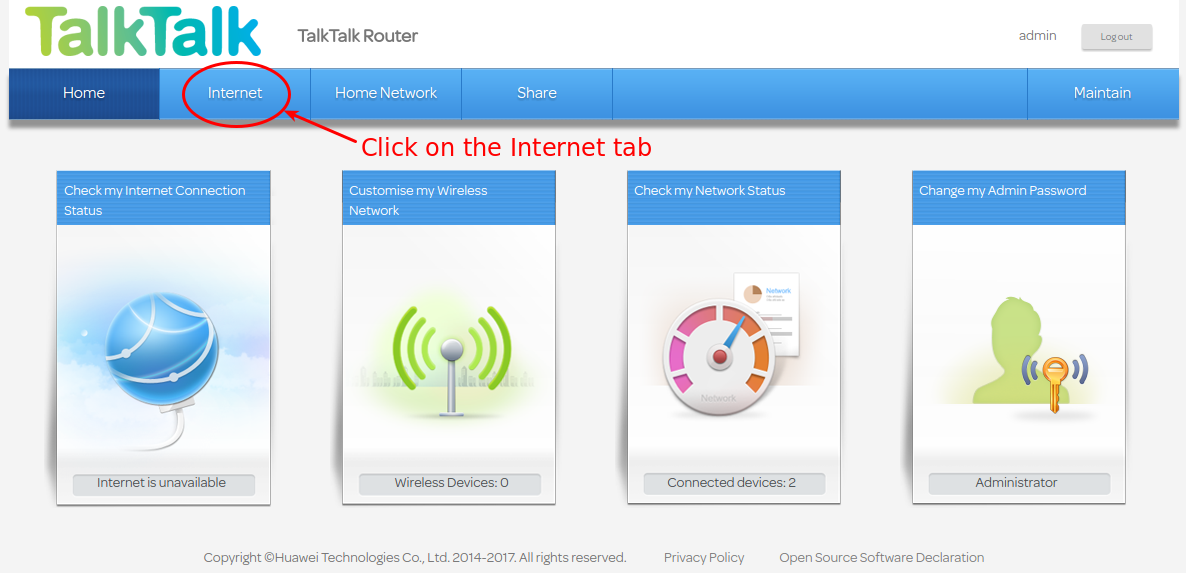 How to Disable SIP ALG on the Huawei HG633 (TalkTalk Super Router