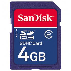 4GB SDHC card