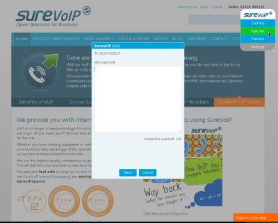 Add your SureVoIP API details